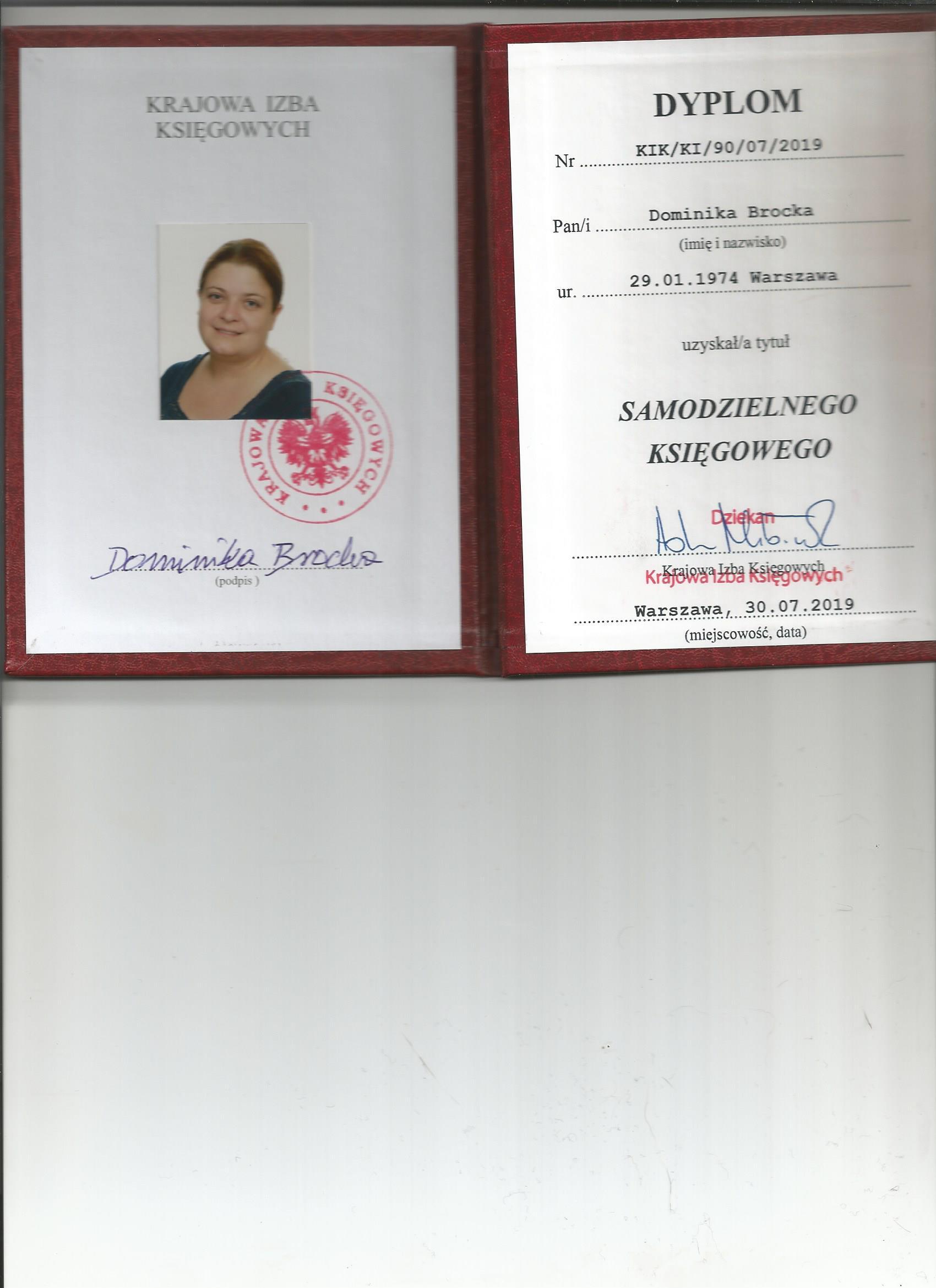 Certyfikat CMC Sp. z o.o.