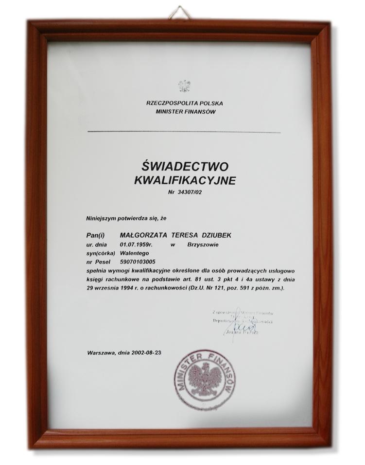 Zobacz referencje Biuro Rachunkowo-Podatkowe Mad-2  Małgorzata Dziubek