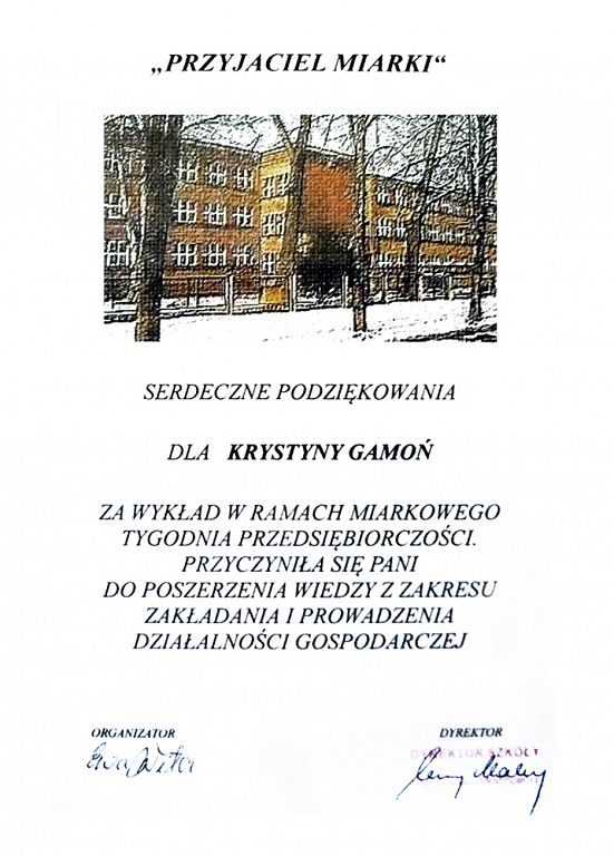 """Referencje """"Rowinga"""" Kancelaria Podatkowa Gamoń Krystyna"""