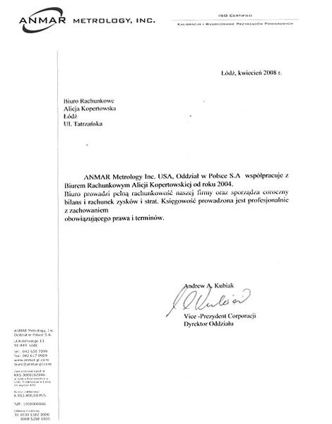 Zobacz referencje Biuro Rachunkowe Alina Kopertowska