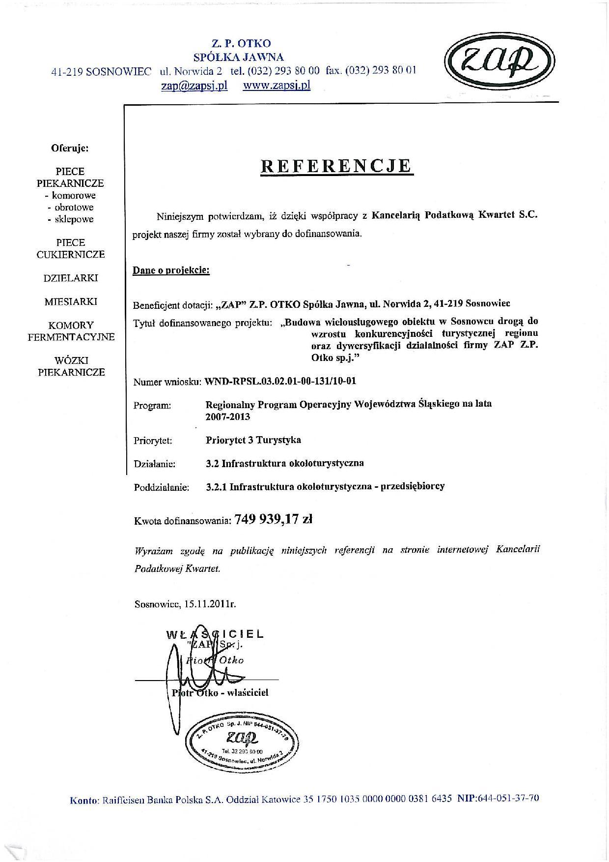 Zobacz referencje Kancelaria Podatkowa KWARTET Spółka z ograniczoną odpowiedzialnością